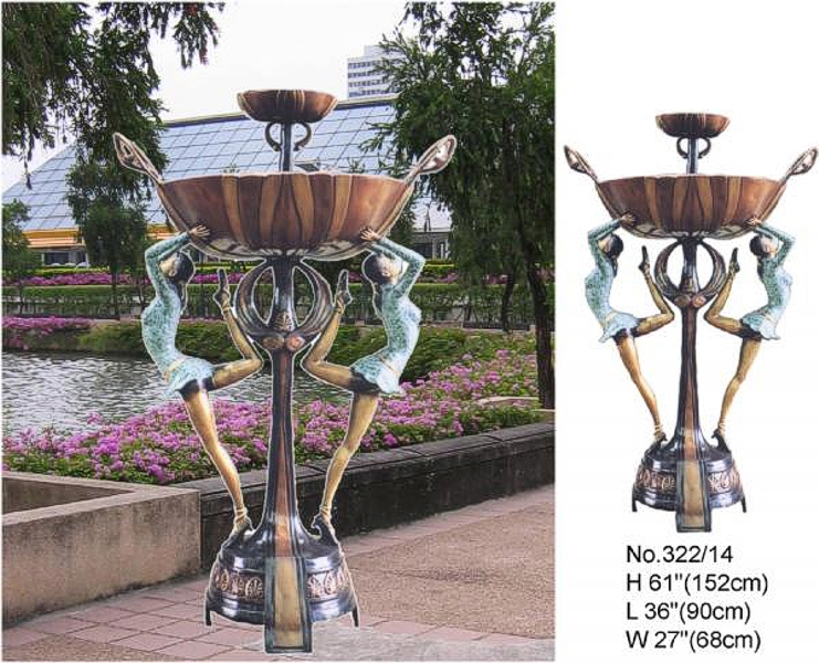 Bronze Ladies Tier Fountain - BB 322-14