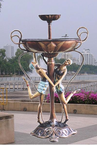 Bronze Ladies Tier Fountain - BB 323-18