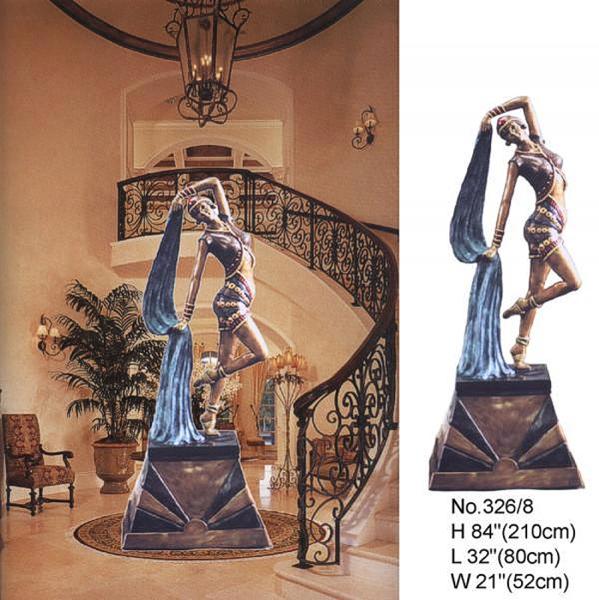 Bronze Deco Lady Statue