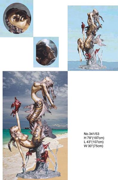 Bronze Mermaid Statues - BB 341-53 S
