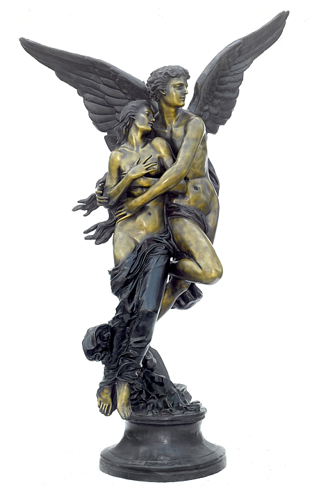 Bronze Cupid & Psyche Statue - ASB 357