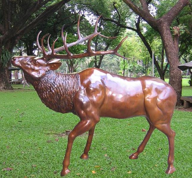 Bronze Deer Buck Statues - BB 365-17