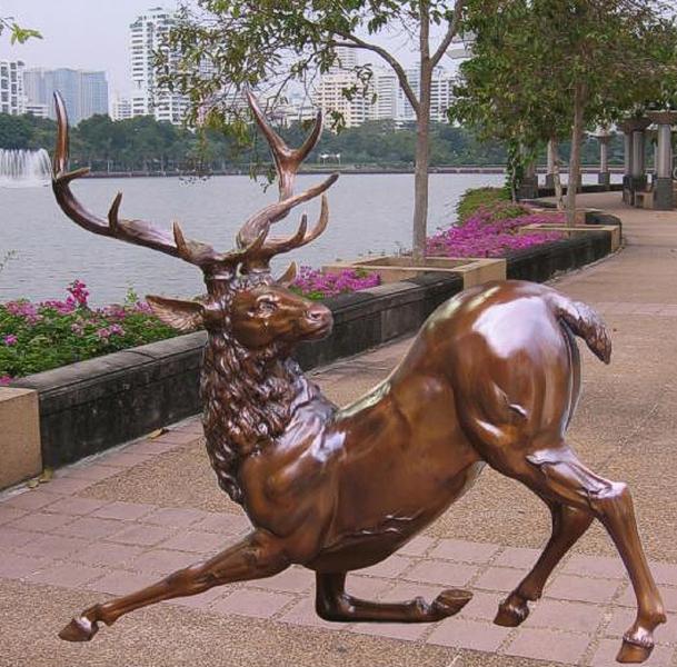 Bronze Deer Buck Statues - BB 368-10