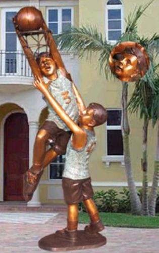 Bronze Boys Basketball Statue - KT 375-12