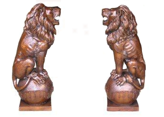 Bronze Lion Statues - BB 399-5