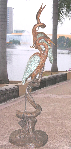 Bronze Heron Fountains - BB 413-3