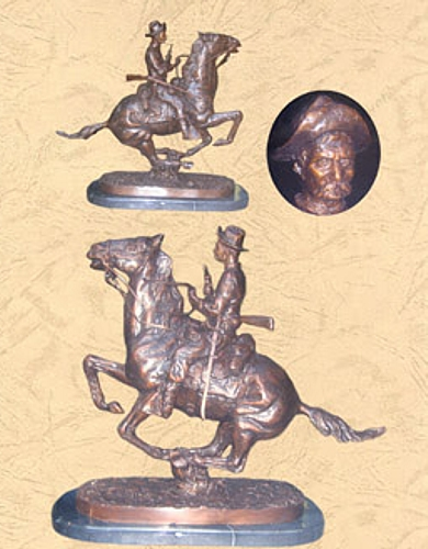 Frederic Remington Bronze Trooper Plains Statue - BB 435/8