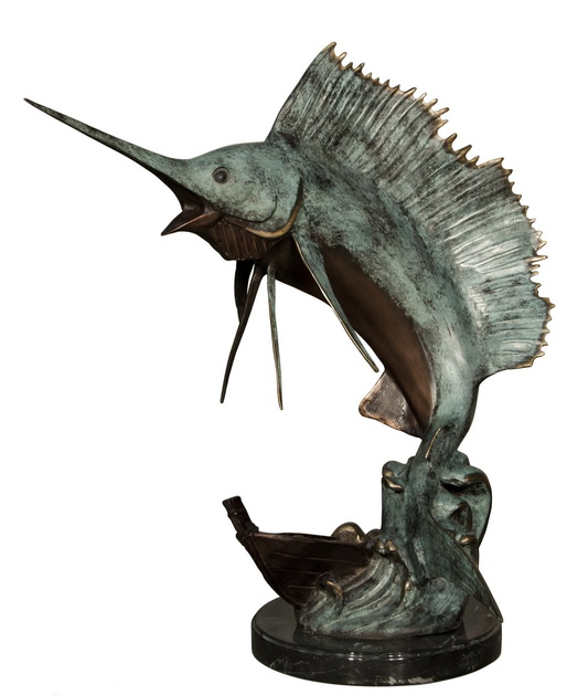 Bronze Sailfish Sculpture Statue - AF 47011M