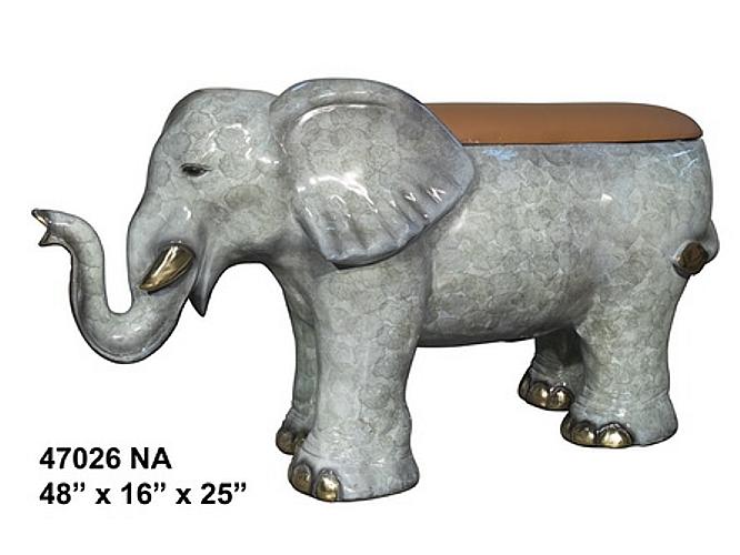 Bronze Elephant Benches - AF 47026NA