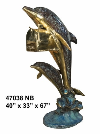 Bronze Dolphin Themed Mailbox - AF 47038NA