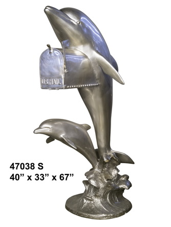 Bronze Dolphin Themed Mailbox - AF 47038S
