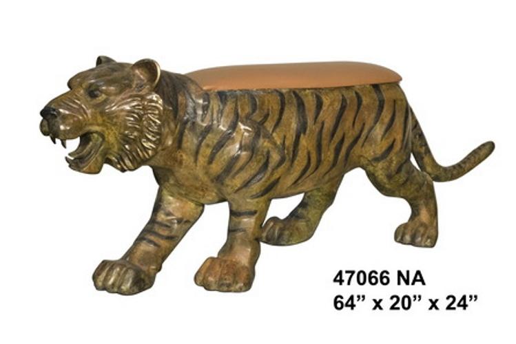Bronze Tiger Bench - AF 47066NA