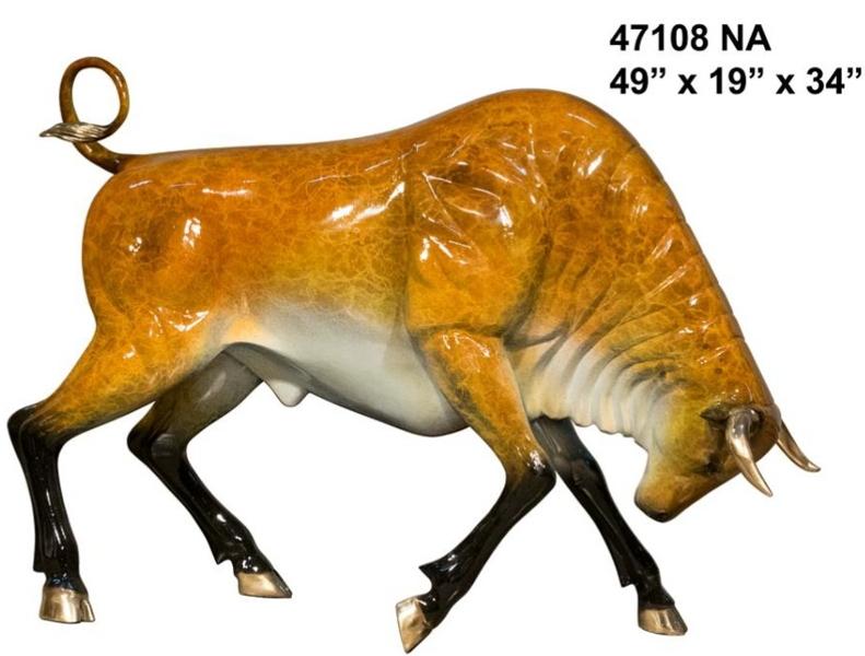 Bronze Bull Statues - AF 47108 NA