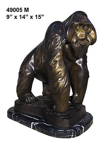 Bronze Orangutan Statue - AF 49005M