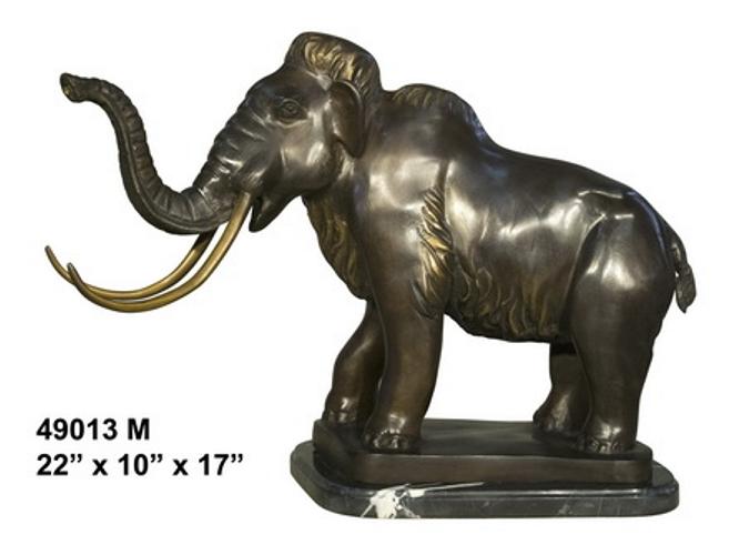 Bronze Mammoth Elephant Statue - AF 49013M