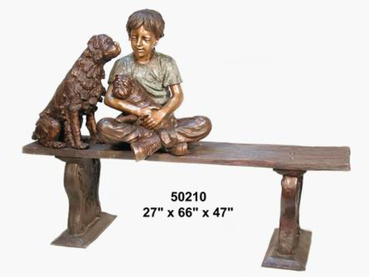 Bronze Child on Bench - AF 50210