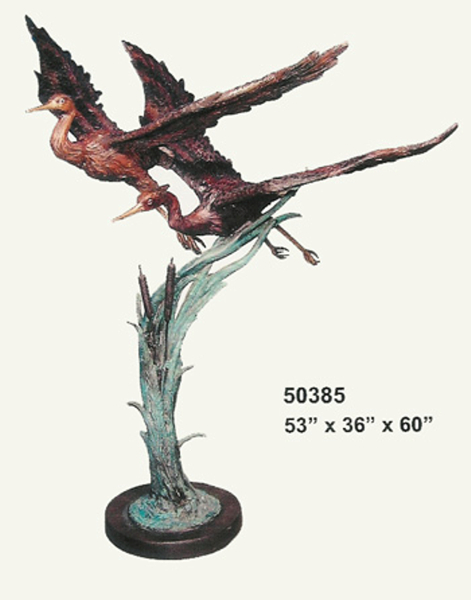 Bronze Heron Fountains - AF 50385