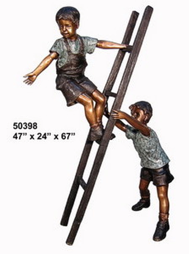 Bronze Boys on Ladder Statues - AF 50398