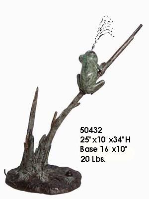 Bronze Frog Statue - AF 50432