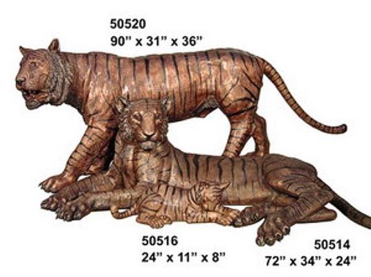 Bronze Tiger Statues - AF 50514-20