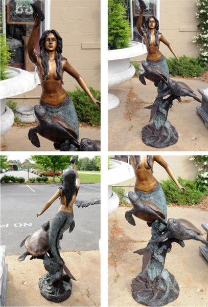 Bronze Mermaid Fountains | Bronze Mermaid Statues - AF 50518