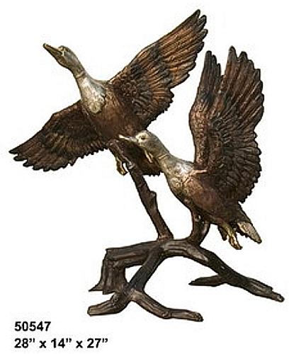 Bronze Flying Duck Statue - AF 50547-S