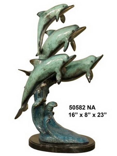 Bronze Dolphin Statues - AF 50582NA