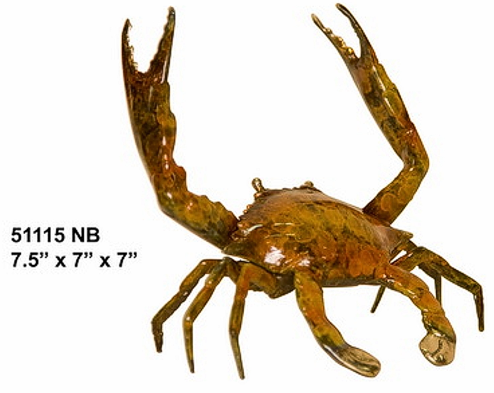 Bronze Crab Statue - AF 51115NB