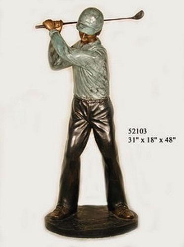 Bronze Golfer Statue - AF 52103