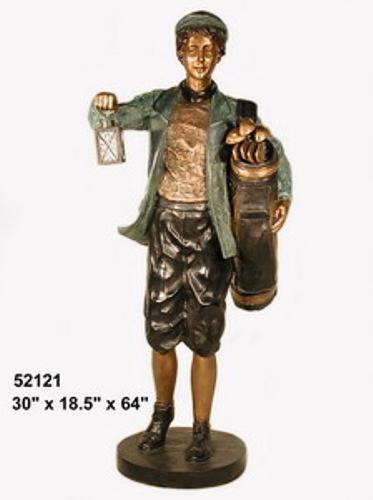 Bronze Caddy Lantern Statue - AF 52121
