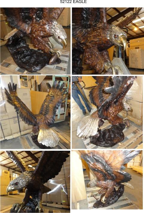 Bronze Eagle Statues - AF 52122