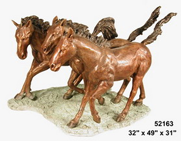 Bronze Horse Statues - AF 52163
