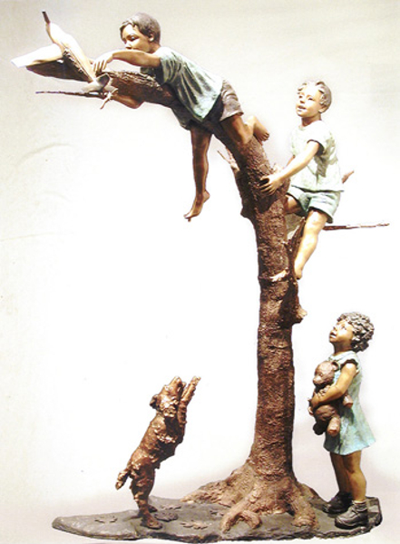 Bronze Children Fountain - AF 52215-1