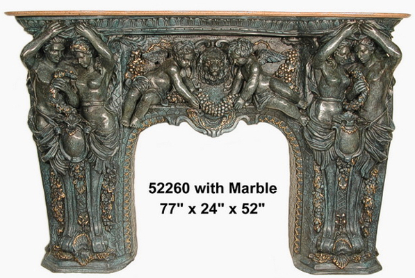 Bronze Fireplace Surround - AF 52260
