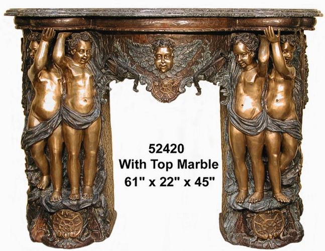 Bronze Fireplace Surround - AF 52420M