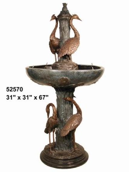 Bronze Crane Fountains - AF 52570