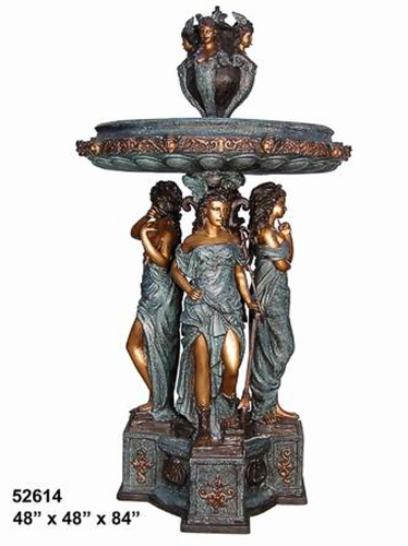 Bronze Four Ladies Fountain - AF 52614