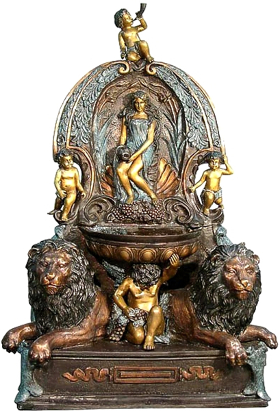 Bronze Lion Wall Fountain - AF 52642