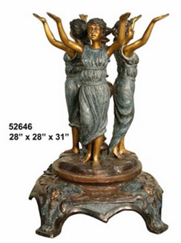 Bronze Ladies Dining Table Base - AF 52646