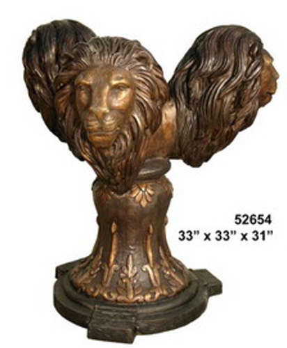 Bronze Lions Dining Table Base - AF 52654