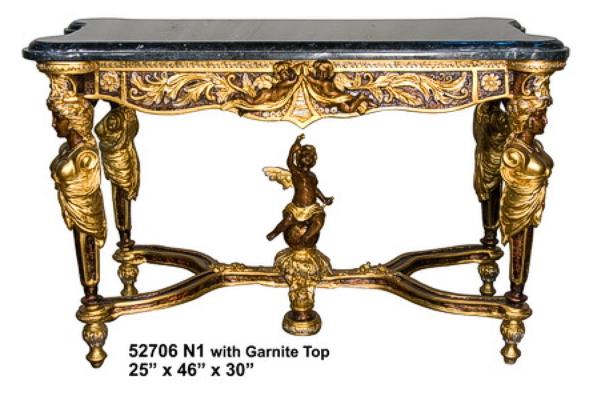 Bronze Table with Granite Top - AF 52706NI
