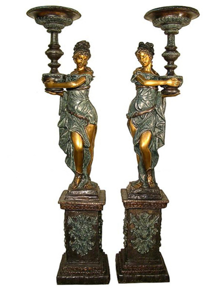 Bronze Ladies Fountain (Available with or without base) - AF 52717RL-1
