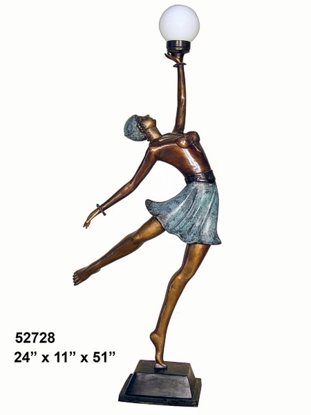 Bronze Lady Torchiere Lighting - AF 52728