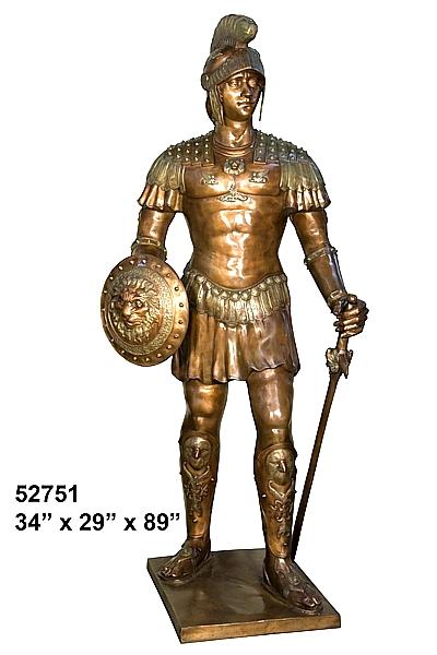 Bronze Spartan School Mascot - AF 52751-Mascot