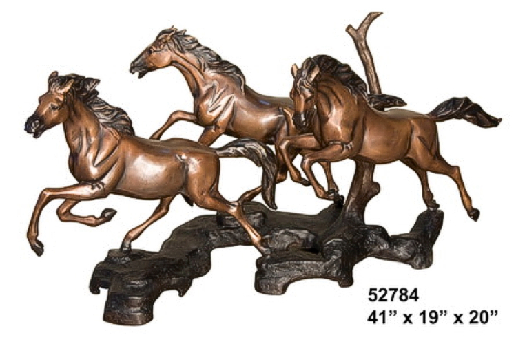 Bronze Horse Themed Table - AF 52784