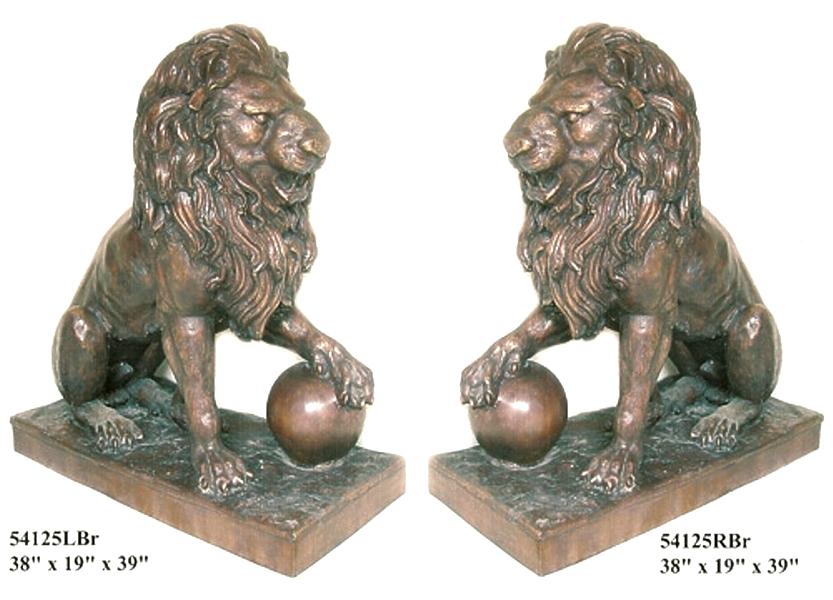 Bronze Lion Statues - AF 54125