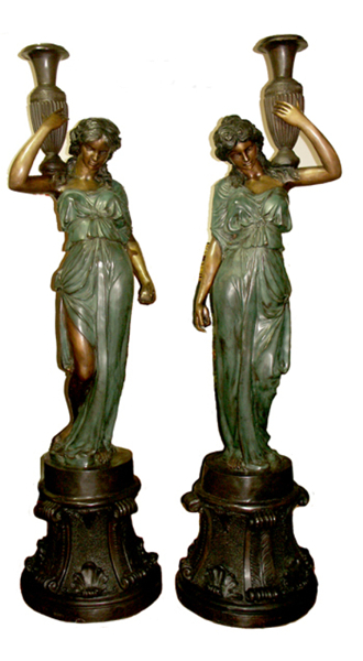 Bronze Classical Ladies Fountain (Available with or without base) - AF 55026-1