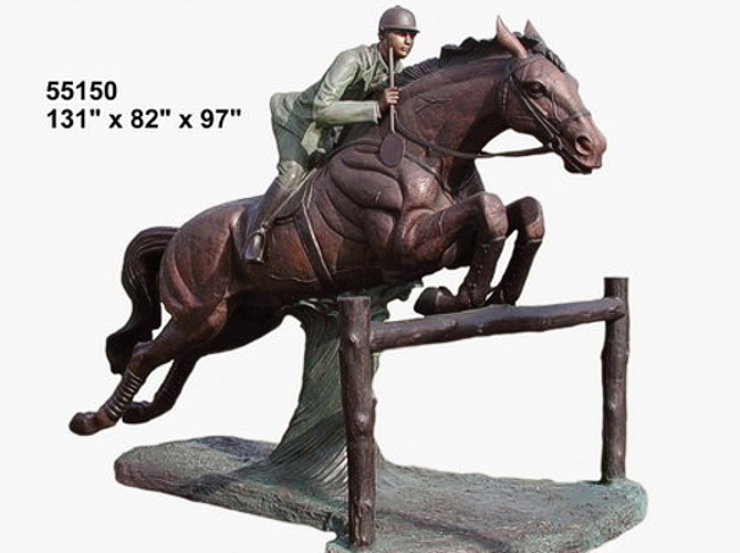 Bronze Life Size Jumping Horse Statue - AF 55150