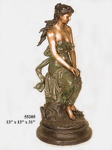 Bronze Lady Sitting Statues - AF 55205