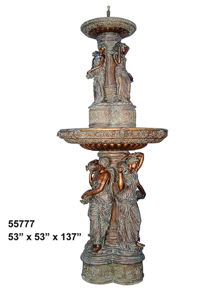 Bronze Musical Ladies Tier Fountain - AF 55777